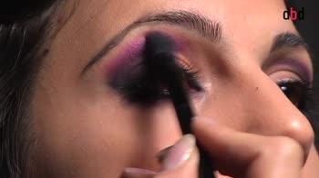 Make up per le feste. Smokey eyes viola
