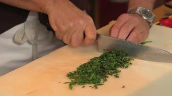Ricetta risotto con bruscandoli e scampi. Video