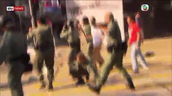 Protester shot as Hong Kong unrest escalates