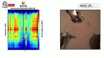 NASA records wind noise on Mars