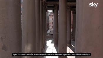 Sette Meraviglie Roma: L'ingresso del Pantheon