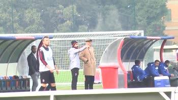 Mihajlovic segue l'allenamento del Bologna, le immagini