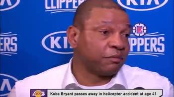 NBA, le lacrime di Doc Rivers per Kobe prima del match