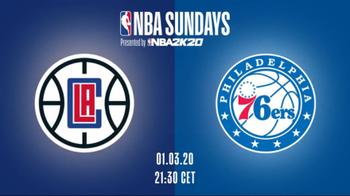 NBA Sundays, LA Clippers-Philadelphia su Sky Sport