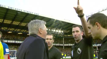 Ancelotti sent off after full-time!