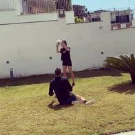 video meret allenamento moglie