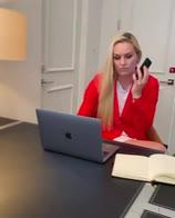 video lindsey vonn videoconferenza mutande