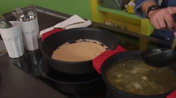 Senza glutine – Bocconcin di amaranto alla rapa rossa e tofu