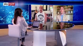 """Salmo ospite a Sky tg24 presenta """"Blocco 181"""", il nuovo progetto Sky Original"""