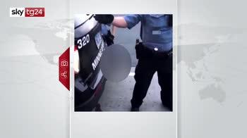CON CARTELLO COME DA NOTA - MCH AFROAMERICANO UCCISO POLIZIA USA*