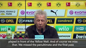 Dortmund boss Favre: We miss our fans