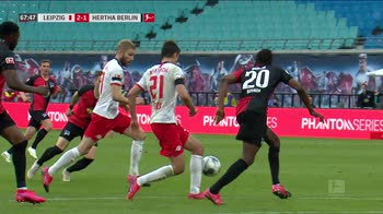 WARN! - 68' feed lipsia-hertha autogol portiere (con replay)