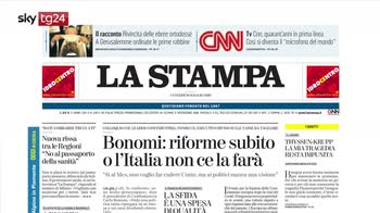 Rassegna stampa, i giornali di venerdì 29 maggio