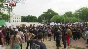 Morte Geroge Floyd, proteste davanti alla Casa Bianca