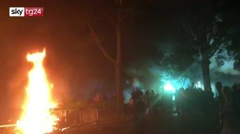 Lacrimogeni contro manifestanti a Washington