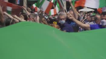 Flashmob del centrodestra a Milano