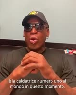 Dennis Rodman, il video messaggio per Petagna su Instagram
