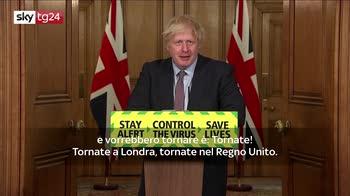 Boris Johnson agli italiani: come back, vi rivogliamo qui
