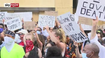 Morte George Floyd, proteste davanti la Casa Bianca