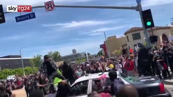 Morte Floyd, ancora proteste a Los Angeles