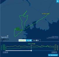 Canada, pilota disegna pugno in cielo, omaggio a Floyd