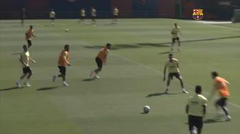 Barcellona, che gol di Messi in allenamento!