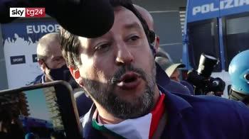 ERROR! Salvini a Mondragone tra le proteste: qui problema di legalità e immigrazione