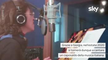 """VIDEO Giorgia canta la cover di """"Non sono una signora"""""""