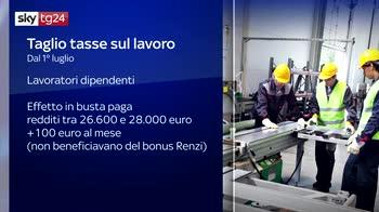 Fisco, dal primo luglio aumenti in busta paga per i dipendenti