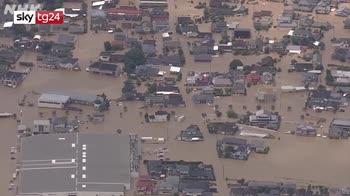 Alluvioni Giappone, operazioni di soccorso rese difficili da piogge incessanti