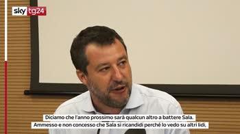 """Salvini: """"Sindaco di Milano? Sì, ma prima torno al governo"""""""