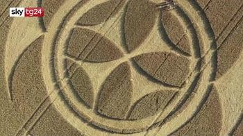 Cerchi di grano, un simbolo attrae visitatori in Francia