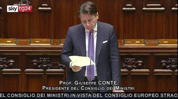 Conte: spero in convinta adesione del Parlamento