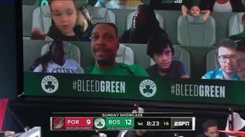 NBA: sugli spalti per Boston Pierce e il figlio di Tatum