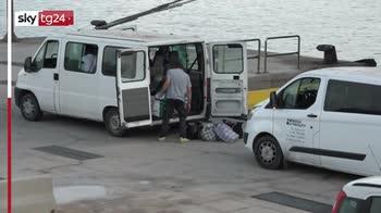 GNV Azzurra a Lampedusa e l'imbarco dei migranti