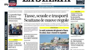 Rassegna stampa, i giornali di oggi 6 agosto