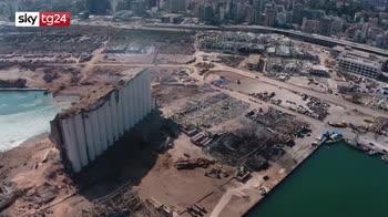 Beirut, la città devastata dall'esplosione: immagini aeree