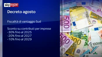 Decreto agosto, misure da 25 miliardi per sostegno economia