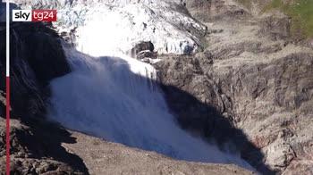 Svizzera, crolla ghiacciaio per aumento temperatura. VIDEO