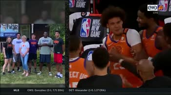 NBA, Suns e la presentazione commovente del quintetto
