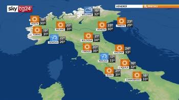 Sole e temperature in aumento, instabilità sulle Alpi