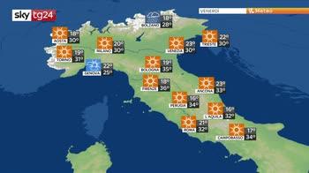 Sole e caldo al centro-sud, instabilità a ridosso delle Alpi