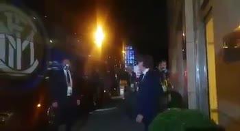 inter shakhtar ritorno albergo tifosi
