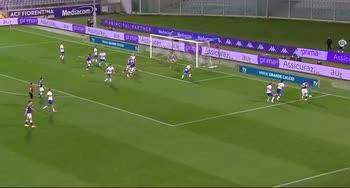 Fiorentina-Sampdoria: Il dribbling di Federico Chiesa