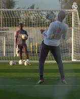 real madrid marcelo zidane gol allenamento