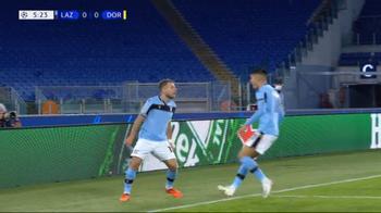 feed partita LAZIO DORTMUND il gol di immobile dopo 6 min