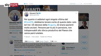 "ERROR!  Virus, bufera su tweet di Toti: ""Io frainteso"""