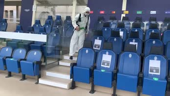 atalanta liverpool sanificazione tribuna stadio