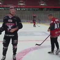 Podolski, dal calcio all'hockey: che numeri!