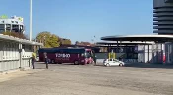 Inter-Toro, l'arrivo delle squadre a San Siro